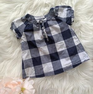 [3 for $20] 9M Carter's checkered blouse